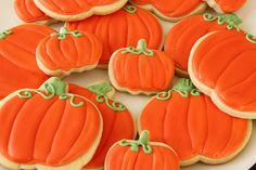 Iced Fall Sugar Cookies ~ cookie and icing recipe