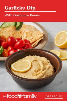 Looking for a simple dip the whole crowd will enjoy? Try this Garlicky Dip with Garbanzo Beans! After blending your beans until creamily smooth, you'll add the fun: MIRACLE WHIP FREE Dressing, minced garlic, ground cumin, and fresh lemon juice. Serve with tortilla chips, pita chips, fresh veggies, or whatever else your heart desires!