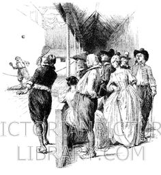 Real Tennis. Victorian illustration of a game of real tennis in the 17th century. A group of men and women in 17th-century dress watch two men play real tennis in an indoor court. Download high quality jpeg for just £5. Perfect for framing, logos, letterheads, and greetings cards.