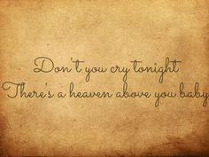 Guns N' Roses - Don't cry.