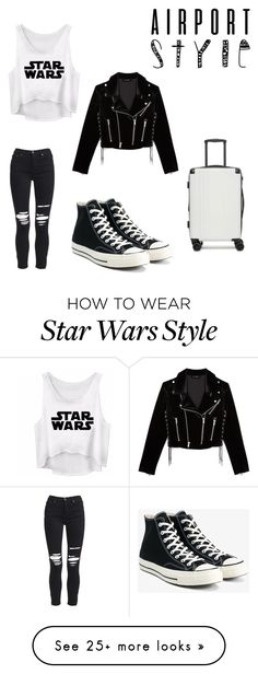 """Airport Style"" by jcartridge22 on Polyvore featuring CalPak, AMIRI, Converse, The Kooples and airportstyle"