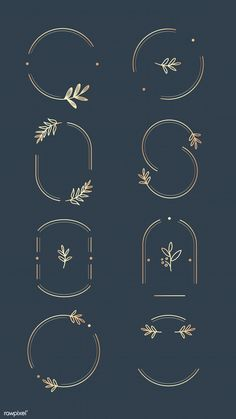 Floral logo design collection on a aegean blue background vector Design Beauty Design Food Design Hand Design Hipster Design Imagotipo Corporate Design, Brand Identity Design, Branding Design, Typography Logo Design, Corporate Branding, Business Logo Design, Logo Floral, Inspiration Logo Design, Freundin Tattoos