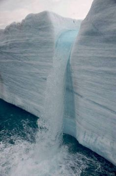 Glacial Waterfalls in Svalbard, Norway