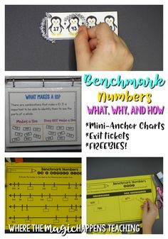 Benchmark numbers are SO important when developing number sense, estimation skills, and addition and subtraction strategies. A blog post with explanations, why are benchmark number important, mini- anchor charts, exit tickets, and tons of FREEBIES!