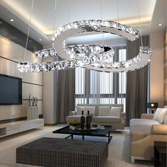 Quality Modern Pendant Lamp manufacturers & exporter - buy Chanel Shape Crystal Pendant Lamp For Kitchen Bedroom Restaurant Cloths Shop Hanging Lights from China manufacturer. Crystal Pendant Lighting, Modern Pendant Light, Pendant Lamp, Living Room Designs, Living Room Decor, Dining Room, Mirror Lamp, Modern Stairs, Shops