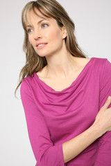 Bamboo and Organic Cotton Drape Neck Shirt--Perfect for the first day of Spring!