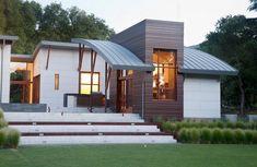 Desain atap melengkung rumah minimalis unik