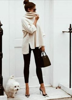 Cozy & Casual Office Outfits For Winter 38 - Fashion Moda 2019 Casual Chic Outfits, Casual Chique, Fall Professional Outfits, Classy Fall Outfits, Sophisticated Outfits, Spring Outfits, Sexy Winter Outfits, Fall Outfits 2018, Casual Fridays