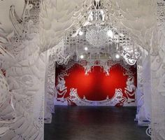 www.jasmology.com This amazing stage-set style installation was created by NYC artist Swoon...love it!