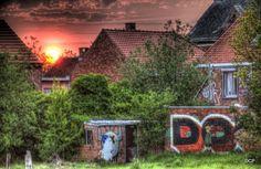 Foto van het Polderdorp Doel