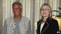 US Secretary of State Hillary Clinton publicly backs microcredit pioneer Mohammed Yunus, urging Bangladesh not to undermine the Grameen Bank. Bbc News, To Focus, Social Justice, Investigations, Women Empowerment, Secretary, Study