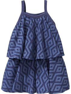 Patterned Tiered Swing Dresses for Baby