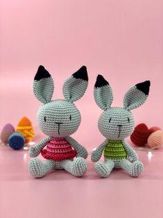 Mesmerizing Crochet an Amigurumi Rabbit Ideas. Lovely Crochet an Amigurumi Rabbit Ideas. Crochet Baby Blanket Borders, Crochet Baby Bonnet, Crochet Baby Cocoon, Crochet Baby Beanie, Crochet For Beginners Blanket, Easter Crochet, Crochet Bunny, Crochet Animals, Crochet Dolls