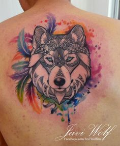 As we mentioned above, today we're going to satisfy our ink hunger with the most beautiful wolf tattoo designs that the internet has ever seen Badass Tattoos, Great Tattoos, Trendy Tattoos, Body Art Tattoos, Sleeve Tattoos, Wolf Tattoo Design, Tattoo Designs, Wolf Tattoos, Animal Tattoos