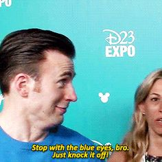 Chris Evans and Chris Pine at D23 Expo