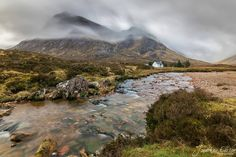 Lagangarbh Cottage in front of Buachaille Etive Mor
