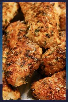 Low Carb Baked Chicken Tenders These baked chicken tenders are coated in a deliciously savory crust, yet have zero breading, which makes for an awesomely low carb meal! Low Carb Chicken Recipes, Low Carb Recipes, Cooking Recipes, Healthy Recipes, Healthy Chicken, Baked Chicken Tenders Healthy, Diet Recipes, Keto Chicken, Chicken Recipes For Diabetics
