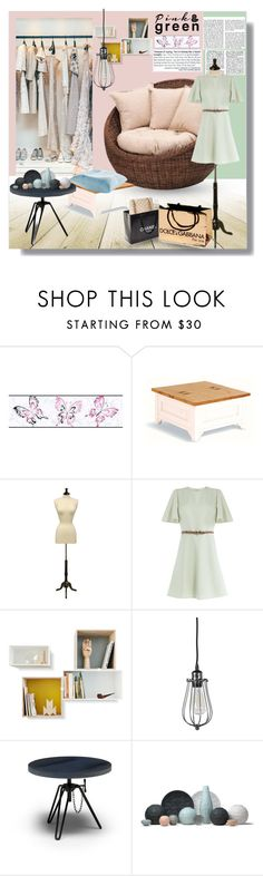 """Pink & Green"" by luna-jancek ❤ liked on Polyvore featuring interior, interiors, interior design, home, home decor, interior decorating, York Wallcoverings, Chanel, Valentino and Diesel"