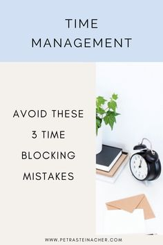 Time Blocking is a great tool to be more productive. Done right, it can really help you get things done more efficiently. If you find that time blocking isn't quite working for you, check out this article about 3 common time blocking mistakes. #entrepreneur #femaleentrepreneur #timeblocking #timemanagement #getthingsdone Life Happens, Time Management Tips, Success Mindset, Online Entrepreneur, Business Advice, Growing Your Business, Getting Things Done, Petra, Mistakes