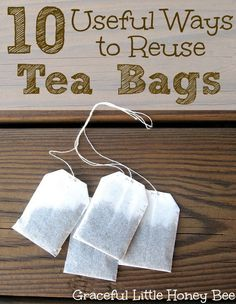 Check out these 10 Useful Ways to Reuse Tea Bags including, starting seeds, soothing your skin, and dying your hair! Tea Bag Storage, Dying Your Hair, Used Tea Bags, Green Tea Bags, Afternoon Tea Parties, Seed Starting, Reuse Recycle, Plantar, Growing Plants
