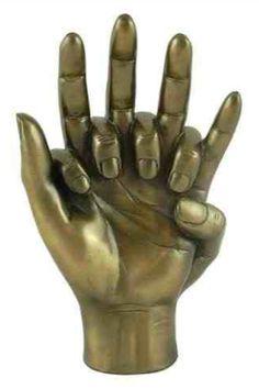 The Lovers Bronze Figurine Romantic Gift 27 cm Sculptures, Hand Sculpture, Bronze Figurine, Plaster Hands, Art, Hand Art