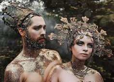 Enchanting Headdresses Inspired by Elysian Fantasy and Fairytales - - Artist Rachel Sigmon designs works of wearable art. Specializing in headdress design, she creates elaborate fantasy costumes.