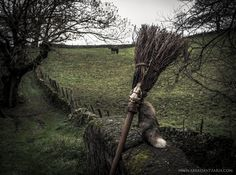 Witch Fox Besom Broom - ©AKER DANTZARIA