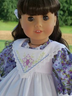 American Girl Historical Gown with Pinafore / by Farmcookies