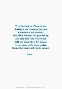 There's a history of heartbreak tucked in the creases of her eyes.