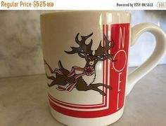 25% OFF SALE Vintage 1980's Christmas Rudolph the Red