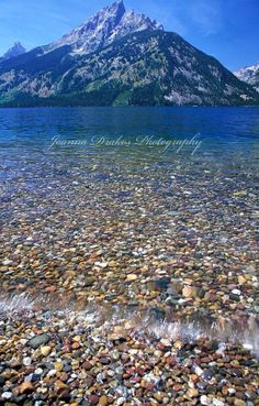 Jenny Lake Pebbles Grand Tetons Wyoming Fine Art by DrakosDesign, $19.00