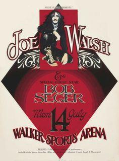 Vintage Music Posters, Film Posters, Rock Album Covers, Rock Band Posters, Classic Rock Bands, Joe Cocker, Bob Seger, Vintage Rock, Best Rock