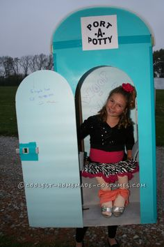 Cool Port-A-Potty Halloween Costume… Coolest Halloween Costume Contest #provestra