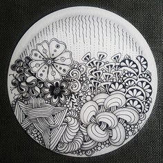 Zentangle - 041817. Artwork from Rebecca Kuan - #rebeccasecretbox Welcome to visit my FB Page: https://www.facebook.com/Rebecca.Zentanglebox/ #zentangle #zendoodle #doodle #doodleart #draw #drawing #tangle #art #artwork #sketch #zentangleart #zentangleinspiration #learnzentangle #zenart #hearttangles