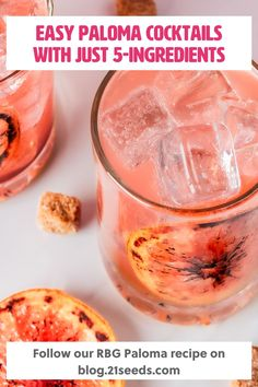 Try this easy 5-ingredient paloma cocktail with tequila by 21Seeds! With grapefruit juice and our grapefruit hibiscus infused tequila, you can have an easy and relaxing happy hour. See our other easy paloma cocktail recipes on blog.21seeds.com now! Fun Drinks Alcohol, Alcohol Drink Recipes, Bar Drinks, Yummy Drinks, Yummy Food, Easy Cocktails, Cocktail Recipes, Paloma Recipe, Tequila Recipe