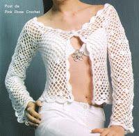 Pink Rose Crochet: Casaco Première - Crochet Cardigan