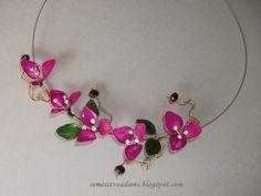 How to make Wire flowers with nail polish / Цветы из проволока и лака для ногтей by semeistvoadams.blogspot.com