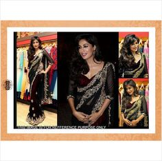 Designer Bollywood replica ethnic wear Indian saree sari blouse piece party wear