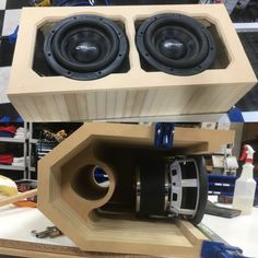 (2) CT Sounds Meso 8 Inch Subwoofers in a 24 Layer Ported Box built by Steve Meade Designs