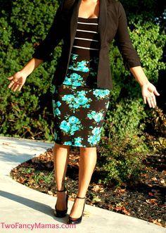 Business outfit, pencil skirt, blazer. LuLaRoe
