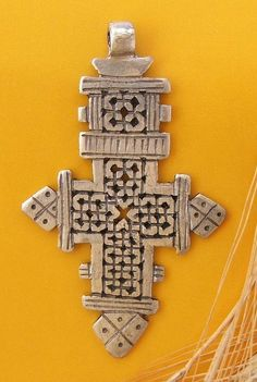 Africa | Coin silver cross from Ethiopia | Sold