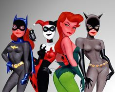 Gotham Girls (Batgirl, Harley Quinn, Poison Ivy and Catwoman) By Bruce Timm
