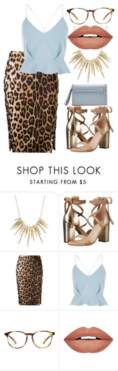 """Baby Leopard Vibes"" by josie-land ❤ liked on Polyvore featuring Alexis Bittar, Raye, Altuzarra, River Island, Forever 21 and Valentino"