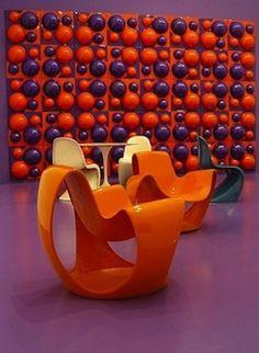 "Verner Panton (""Visiona 2"" 1969) Furniture Eero Saarinen (1955) & Danielle Quarante"