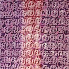 Batik Fabric Purple Adinkra Craft, Fabrics, Textiles, Sewing, Purple, Tejidos, Dressmaking, Creative Crafts, Couture