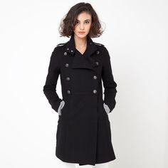 Abrigo con cuello estilo casaca R Essentiel   La Redoute España
