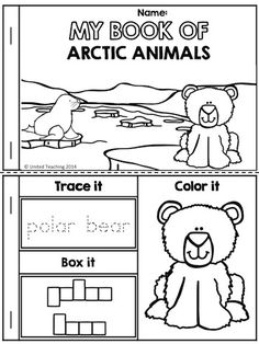My Book of Arctic Animals >> Part of the Polar Animals No Prep Activities Packet