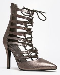 Speed Limit 98 SLOPE Strappy Lace Up Pointy Toe Ankle High Heel Pump 55 BM US * Offer can be found by clicking the VISIT button