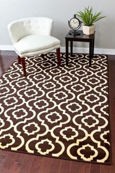 Brown Moroccan Trellis Inexpensive Area Rugs