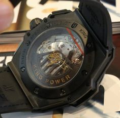 Kobe Bryant's new Black Mamba high-end Hublot watch in the flesh